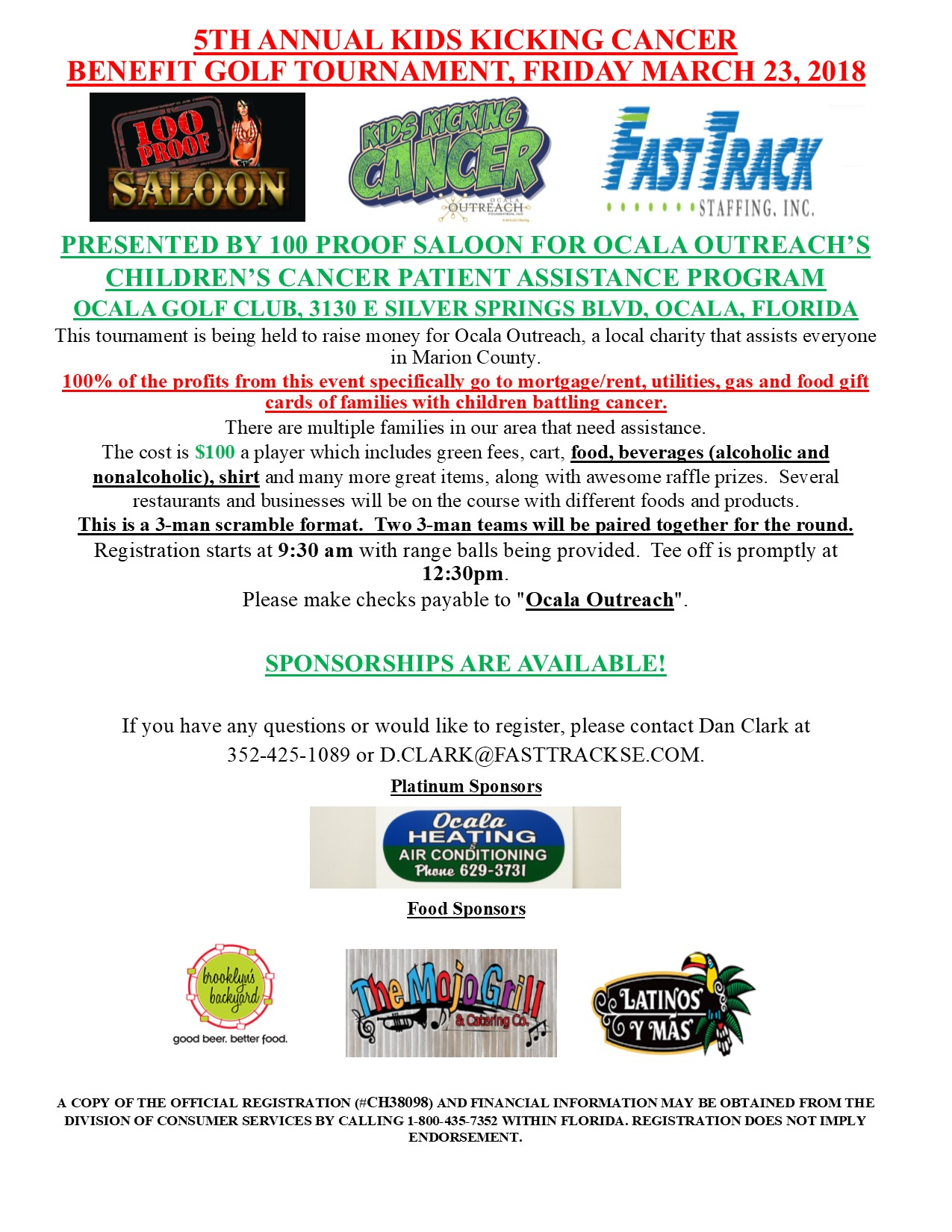 Annual kids kicking cancer golf tournament ocala outreach download sponsor form thecheapjerseys Gallery